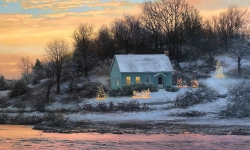Winter House on the River