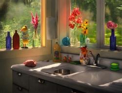 Summer Cabin Kitchen