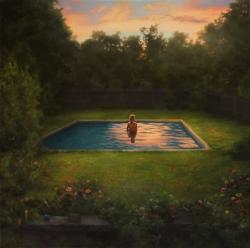 Swimmer at Twilight