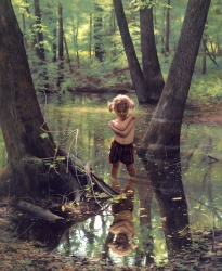 Nellie in a Woodland Pool