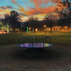 Early Xmas Lights in the Park