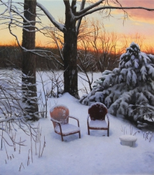 Two Chairs in Winter